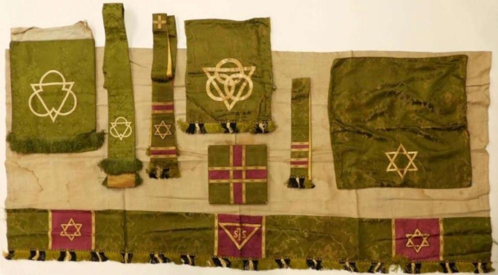 antique Catholic religious vestments