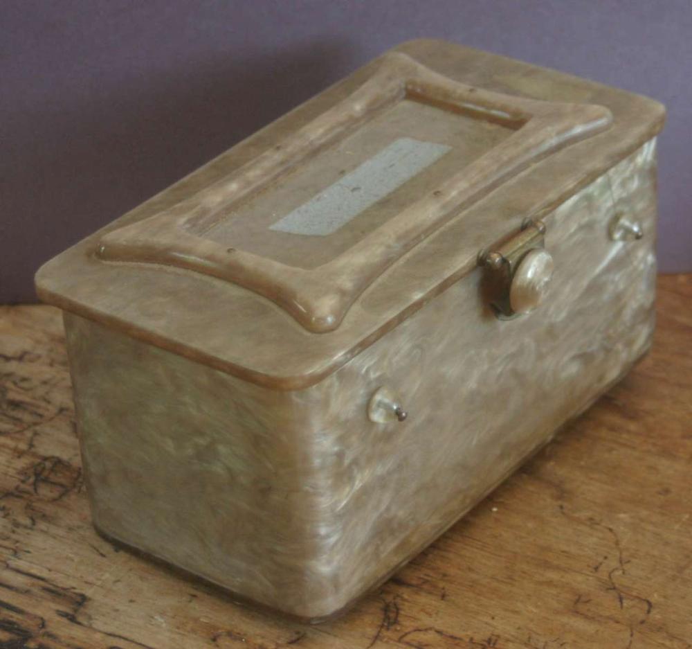 vintage Art Deco period Lucite purse or bag