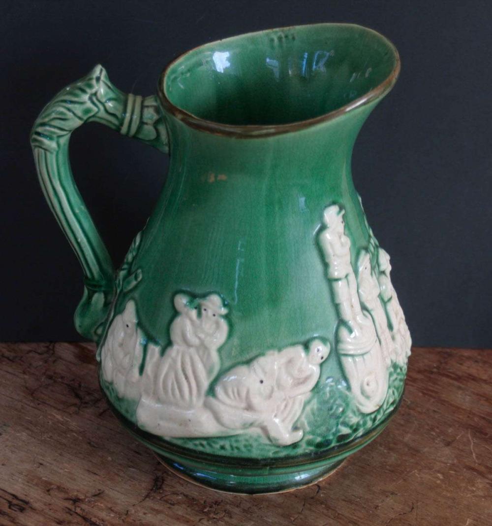 antique Majolica pitcher