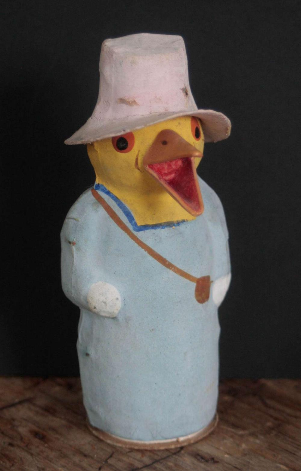 antique candy container shaped like a chicken