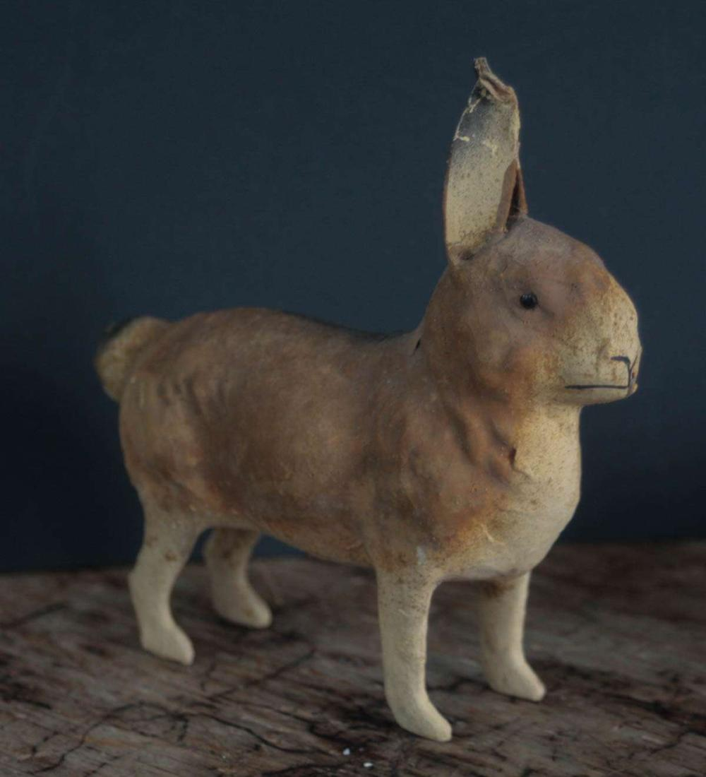 antique candy container shaped like a rabbit