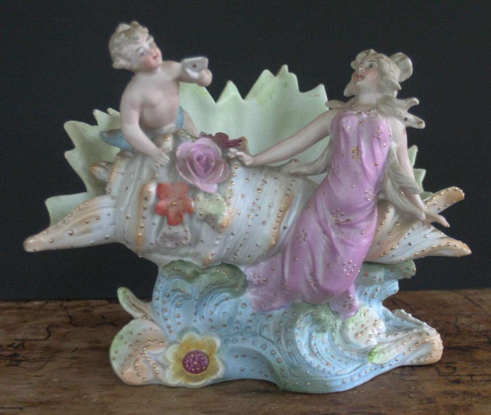 large antique bisque figural piece