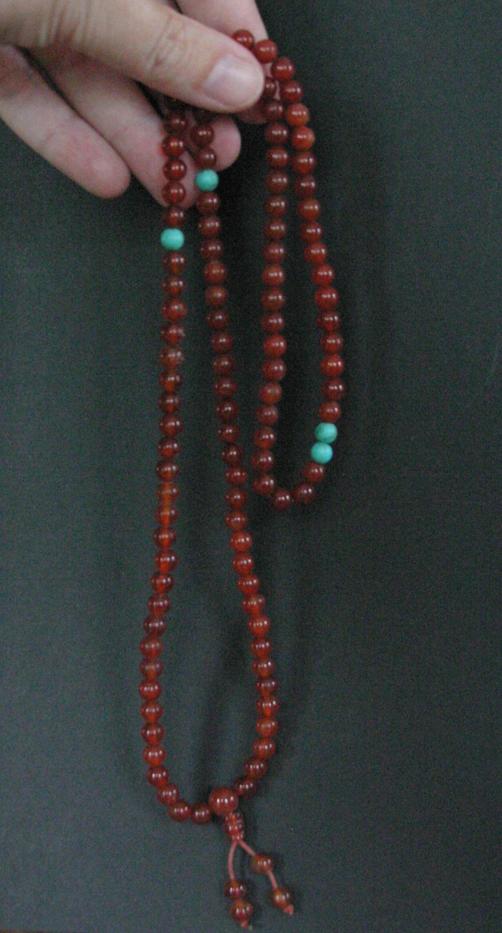 vintage estate jewelry: prayer bead necklace