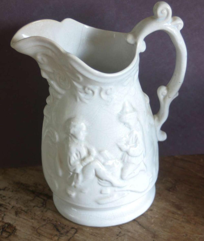 vintage grotesque porcelain pitcher
