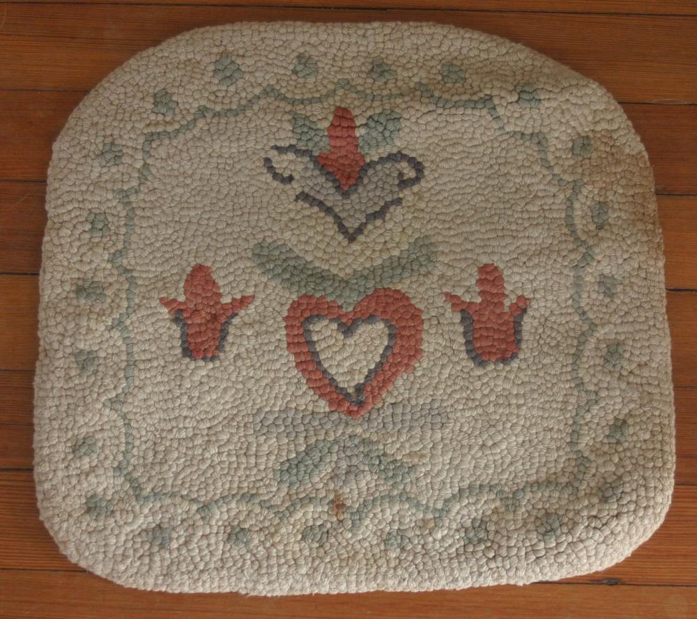 small antique hooked rug