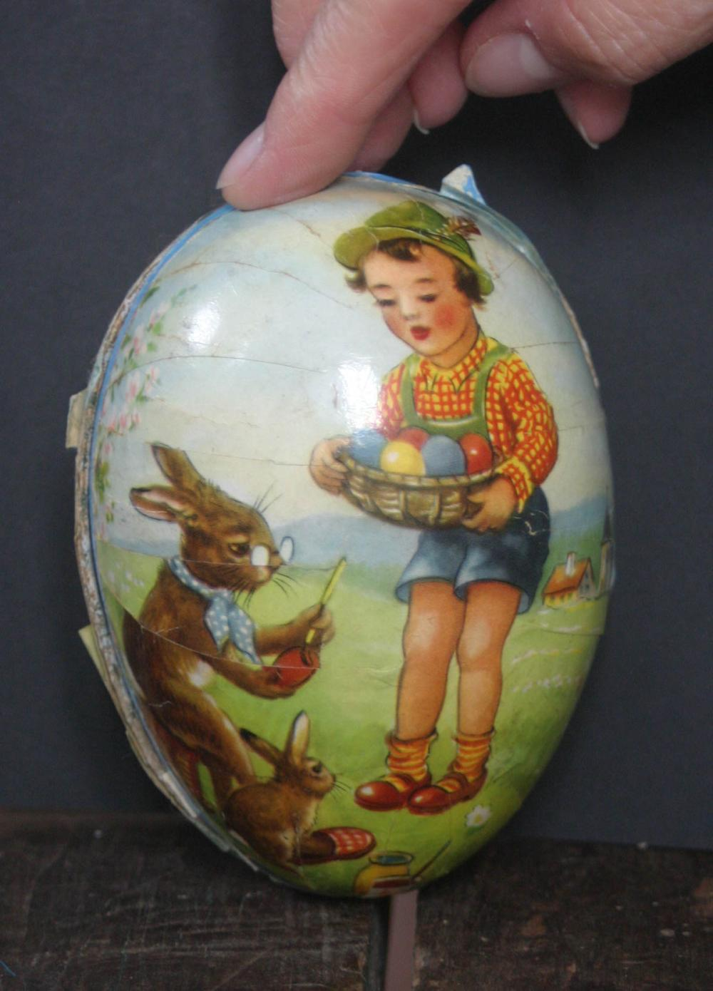 vintage German Easter candy container