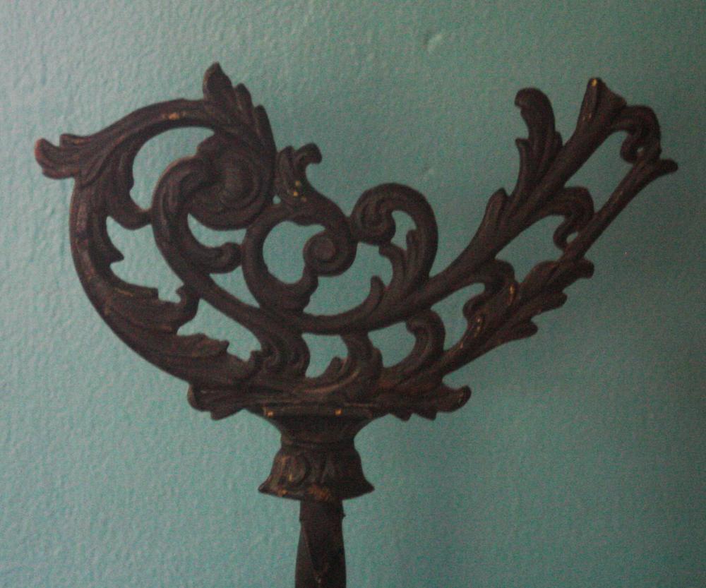 antique wrought iron floor lamp base