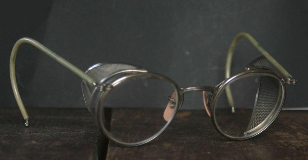 antique Steampunk safety glasses or spectacles