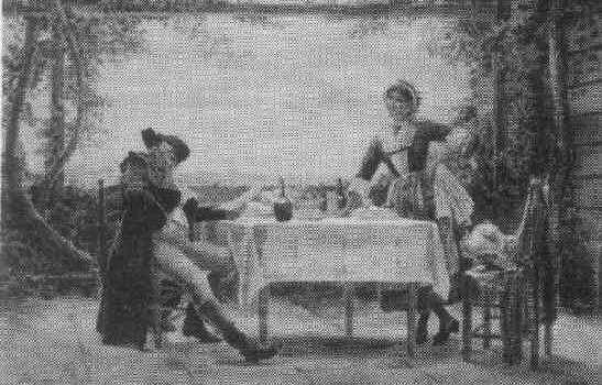 LOUIS EMILE ADAN (FR 1839-1937) A Bill to Pay, wc, 15 x 22, s, inscr, B1