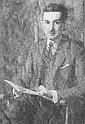 MARY BRADISH TITCOMB (1858-1927) Portrai of Poet and Yale Professor LeBaron Cooke (1883-1939), o/c, 36 x 26,, Mary Bradish Titcomb, Click for value