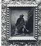 GEORGE W. PLATT (1839-1899) Man with Dog, o/c, 12 x 10, sr, & s verso, A1, George W Platt, Click for value