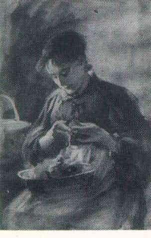 OTTO STARK (1859-1926) Peeling Vegetables, wc, 13 x 9, s, d'96 A