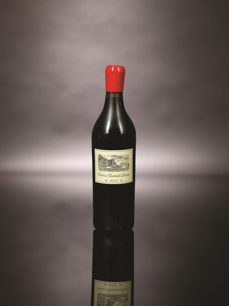 """Chateau Gruaud Larose 2000 bottled in a bottle found in the """"MARIE THERESE"""" shipwrecked in 1872"""