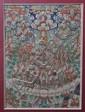 A Thangka Painting of Lamas