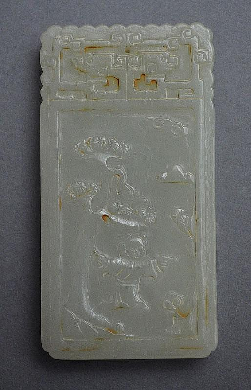 A Chinese Jade Plaque