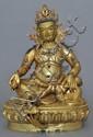 A Large Sino-Tibetan Gilt Bronze Jambhala
