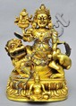 A Sino-Tibetan Gilt Bronze Vaishravana