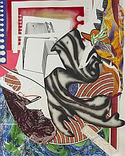 Frank Stella, Going Aboard (from the Wave Series), Lithography