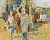 Willem (Wim) van Aken (1933-2015)  'Vrouwen op weg naar de markt', Willem
