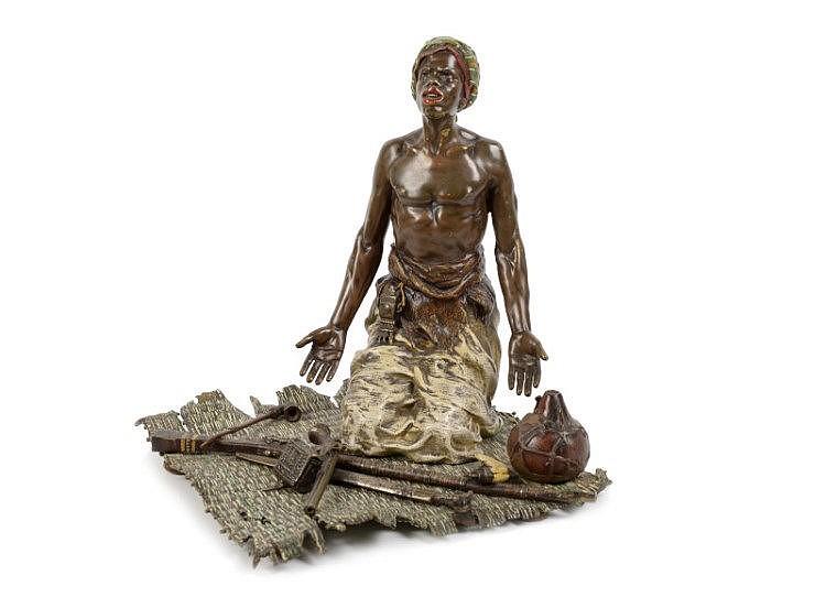 Koudbeschilderd bronzen sculptuur (zgn. Weens bron