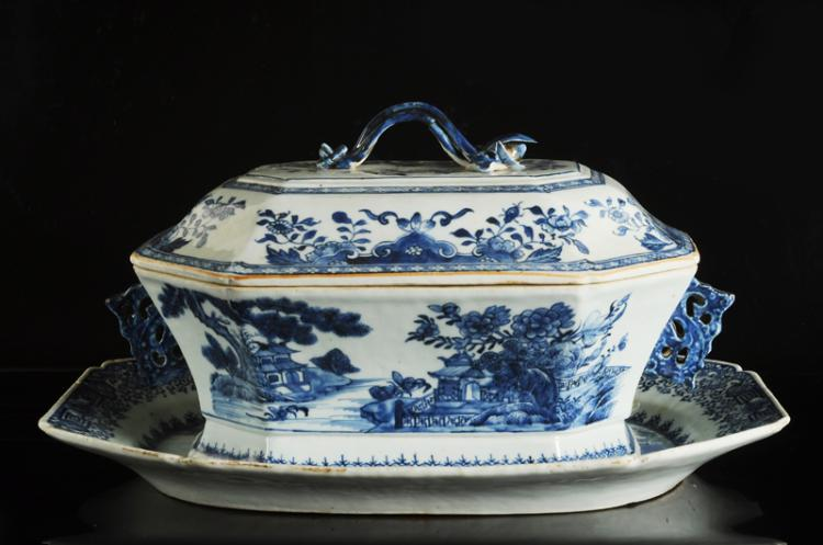 a blue and white porcelain tureen and cover decor. Black Bedroom Furniture Sets. Home Design Ideas