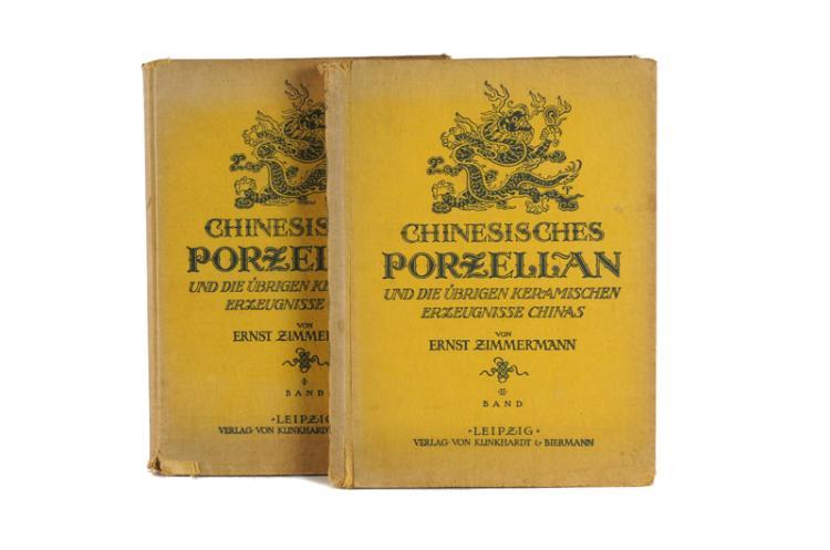 Two books, Ernst Zimmermann, 'Chinesisches Porzell