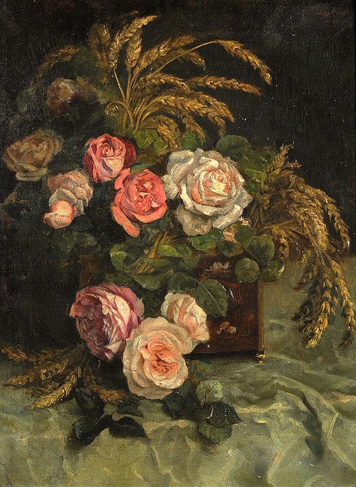 Paul de Laboulaye (1849-1926), 'Bloemstilleven', g