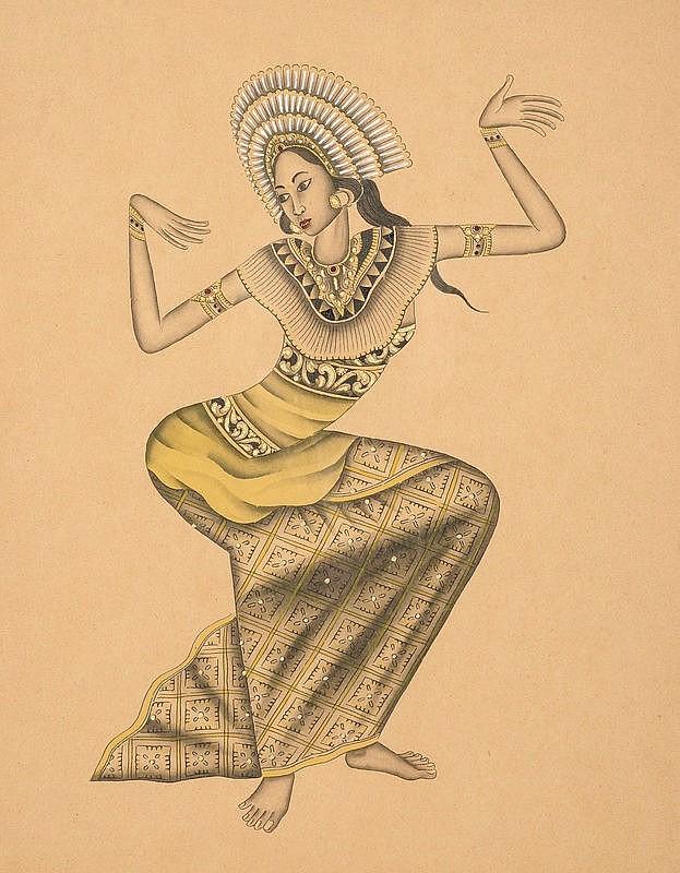 I Ketut Rudin (1918/20), 'Dancer', verso signed ad