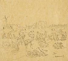 Charles Lallemand (1826-1904), 'Kleding wassen in