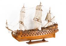 Replica van de Galeon Real Felipe, met drie dekken en 114 kanonnen. Spanje,