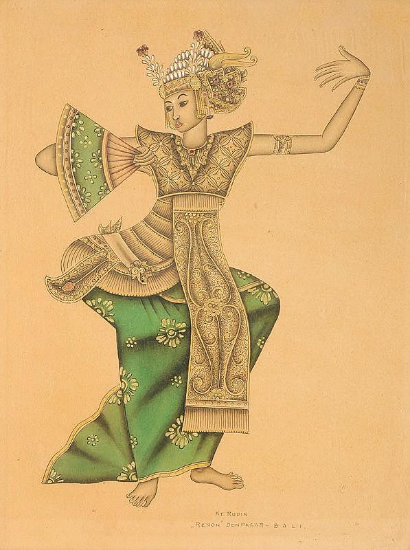 I Ketut Rudin (1918/20), 'Balinese dancer',