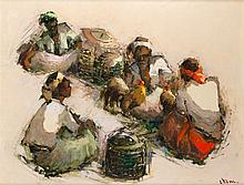 Lucien Frits Ohl (1904-1976), 'Fighting roosters', signed lower right, boar