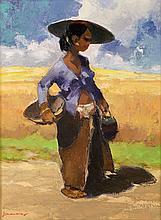 Gerard Pieter Adolfs (1898-1968), 'Wedok, Surabaya', 1959, signed lower lef