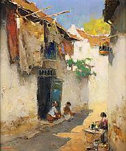 Gerard Pieter Adolfs (1898-1968), 'Kampong street', signed lower left, vers
