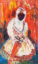 Hasan Djaafar (1919-1995), 'Ethiopean woman', signed lower right, canvas, 8