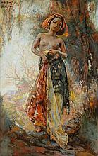 Willem Gerard Hofker (1902-1981), 'Ni Kenjoeng bij waringin (Ni Kenyung at