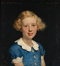 Willem Gerard Hofker (1902-1981), 'Mia Andriessen, at the age of 12', signe