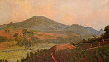 Carel Lodewijk Dake (1886-1946), 'View on the small Gedeh vulcano, West Jav