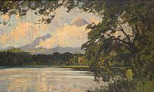 Carel Lodewijk Dake (1886-1946), 'The Ranu Klakah lake with the Lamongan vu