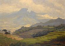 Carel Lodewijk Dake (1886-1946), 'Indonesian landscape', signed lower left,