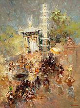 Gerard Pieter Adolfs (1898-1968), 'Holy procession Bali', 1947-1948, signed