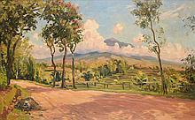 Carel Lodewijk Dake (1886-1946), 'The road from Batu to Lawang (near Malang