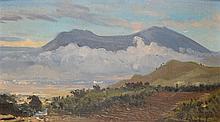 Carel Lodewijk Dake (1886-1946), 'View on Gunung Kawi, near Malang', signed