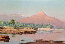 Willem Jan Pieter van der Does (1889-1966), 'Morning sun on the Brantas riv