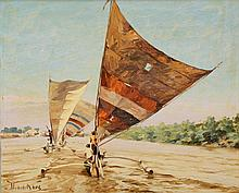 Willem Jan Pieter van der Does (1889-1966), 'Two Indonesian sailing boats',