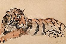 Czeslaw Mystkowski (1898-1938), 'Javanese tiger', signed and dated 'Java 19