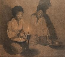 Willem Dooyewaard (1892-1980), 'Evening meal', signed and dated 1920 lower