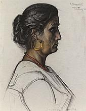 Rudolf Bonnet (1895-1978), 'Italian woman', signed upper right and dated 'M