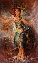 Trubus Soedarsono (1924-1966), 'Balinese dancer', signed and dated '64, Djo