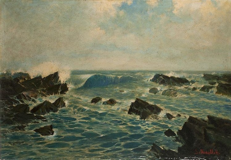 Surjosoebroto Abdullah (1878-1941), 'Zeegezicht',